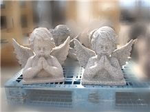 Cupid Sculpture, Beige Granite Angel Sculptures