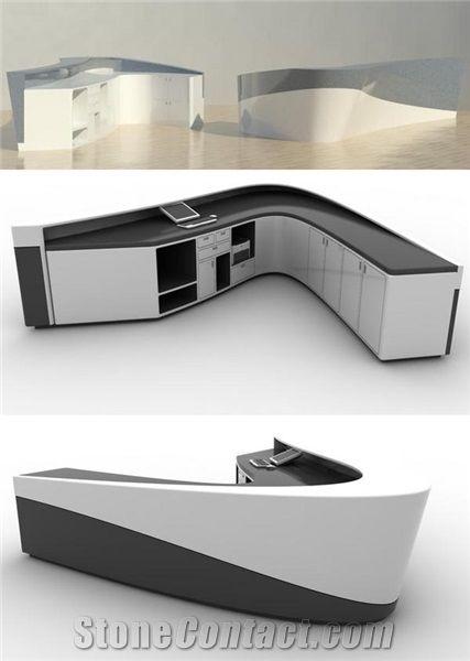Home U003eu003e Tabletops Reception U003eu003e French Style High End Office Reception Desk