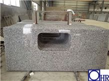 New Design and Hot Sale Light Grey Granite Kitchen Countertop with Whole Sale Price, Kitchen Top, Worktop
