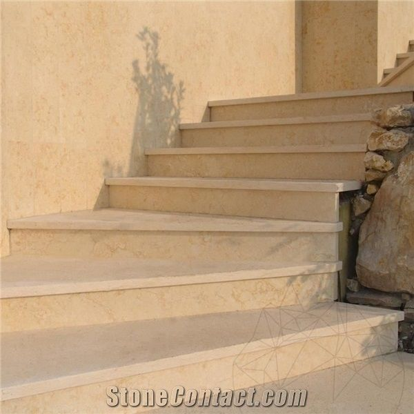 Sunny Beige Marble Steps,Egyptian Cream Marble Stairs With The  Anti Slip,Full Bullnose Edge, Light Beige Marble Treads U0026 Risers, Light  Cream Marble Indoor ...