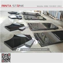 Shanxi Black Granite Absolute Black Stone China Pure Black Granite Dark Sesame Hebei Black Super Black Granite Mongolia Mongo Stone Beiyue Black Monument & Tombstone