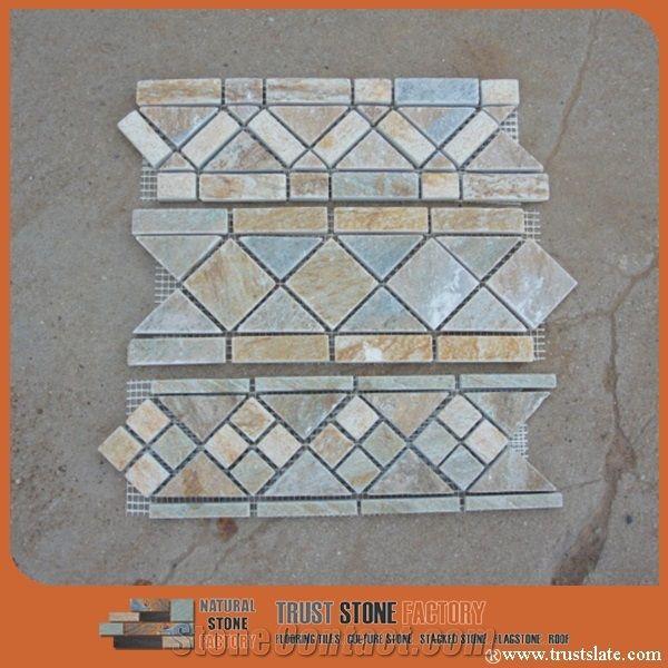 Decorative Stone Mosaic Border