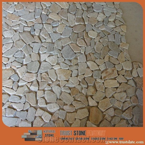 Light Grey Chipped Mosaic, River Rocks Pebble Mosaic Tile,Beige River Stone  Mosaic, Sliced River Rock Mosaic Tiles In Bathroom, Pebble Stone Mosaic For  Wall ...