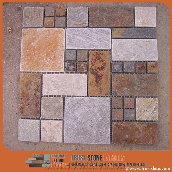 Multicolor Quartzite Mosaic Tiles Irregular Mosaic Pattern Wall Mosaic Floor Mosaic Interior Decoration Customized Mosaic Tile Mixed Color Mosaic Tile For Bathroom Kitchen Hotel Decoration From China 545639 Stonecontact Com