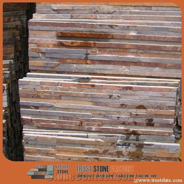 Rustic Slate Cultured Stone Rusty Slate Ledge Stone Copper