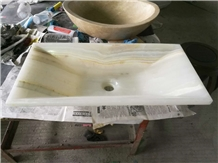 White Onyx Sinks Retangel Basins Drop-In Sink