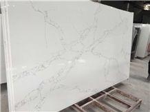Calacatta White Quartz Stone Slabs, White Quartz Slab