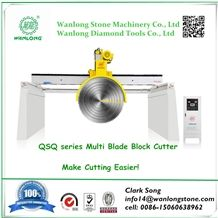 Wanlong Qsq-2200/2500/3000 Bridge Multi Blade Block Cutting Machine for Granite Marble Block Cutting Machinery High Efficiency Stone Cutting Machine Good Price