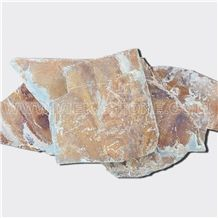 China Irregular Random Flagstone Multicolor Rusty Slate Pavers Split Nature Face Tile Landscaping Natural Stone for Indoor & Outdoor Patios Walkways Garden Courtyard Pool Decks Surrounding Project
