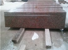 China Natural Stone G562/G4562 Maple Red, Capao Bonito, Cengxi Red, Fengye Red Granite Stairs/Steps/Risers, Polished/Honed/Flamed/Sandblasted Surface, Indoor and Outdoor Stairs Paving, Building Stone