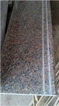 China Original Natural Stone G563 Guangxi Haitang Light Red Granite Stairs/Steps/Risers, Polished/Honed/Flamed/Sandblasted Surface, Indoor and Outdoor Stairs Paving, Building Stone Project Decoration