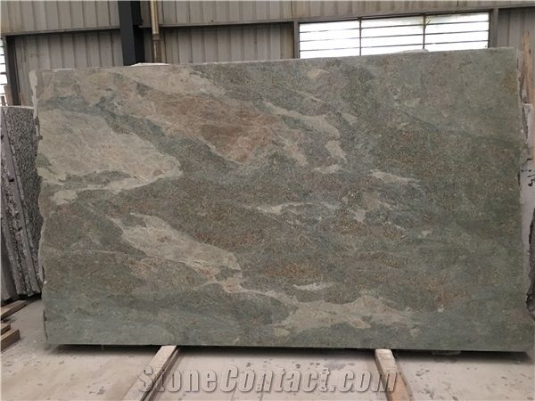 China Verde Fontaine Granite Slab Tile With Polish Sawn