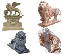 Chinese Style Marble & Granite Standing Sitting Lion Animal Sculpture Carving Stone for Exterior Landscape Garden Decoration
