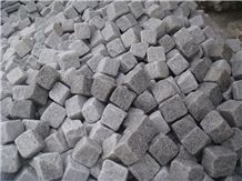 G603 Cheap China Light Grey Sesame White Granite Cobbles Cube Stone on Net Of Square/Fan Different Shape with Natural Split Flamed Tumbled for Floor Covering Driveway Walkway Pavers Paving Set Garden