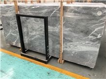 Marmol Blue Storm Marble, Grey Marble Tiles/Slabs, Polished/Flamed/Sandblasted Surface, Wall Cladding, Floor Covering, Landscaping, Water-Jet, Building Projects