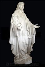 Western Style Religious Jesus Child Angel Carving Sculpture Man Women Statue Figure with Chinese Jade White Marble Stone by Human Hand Carved for Indoor Decoration & Outdoor Landscape Garden