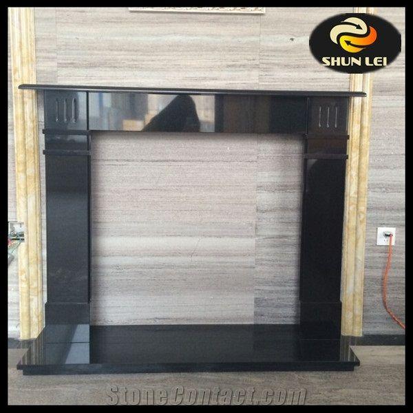 Excellent Hebei Black Granite Modern Fireplace Mantels Marble Hearth Download Free Architecture Designs Ferenbritishbridgeorg
