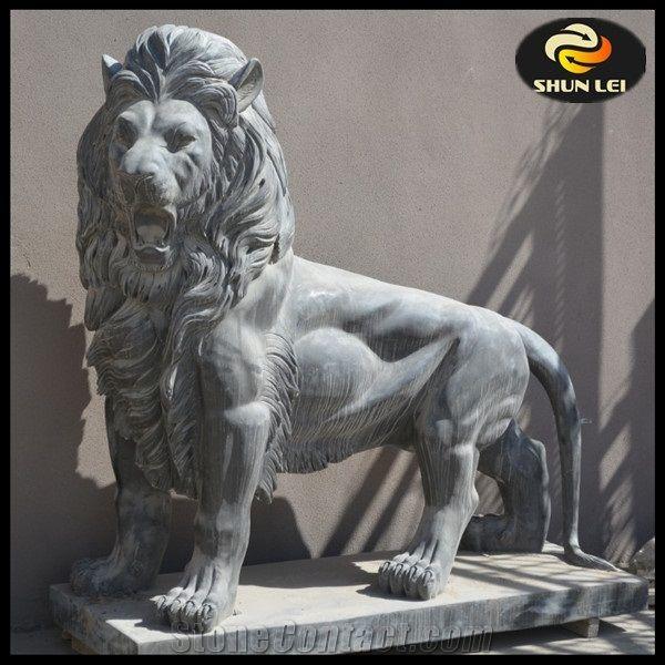 Lion Garden Statues,Concrete Garden Sculptures,Large Garden Statues For  Sale,Stone Garden Statues For Sale