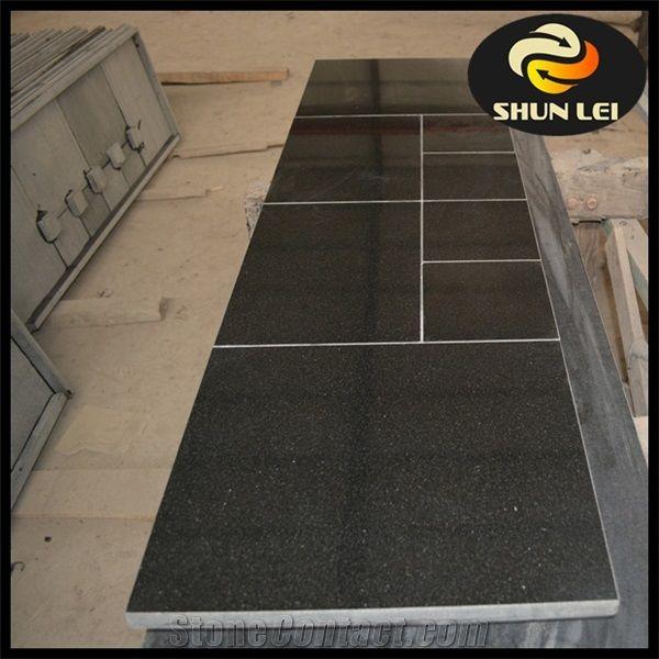 Shanxi Black Granite Fireplace Mantels, Black Granite Tile Fireplace Surround