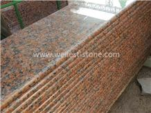 China Maple Red Polished Granite Staircase, Granite Steps, Granite Treads and Risers