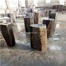Landscaping Stone Zhangpu Basalt Columns Sale for Wholesales,Outdoor Garden Palisade, Basalt Pillars