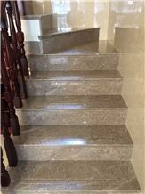 Fargo Grey Marble Stairs, China Armani Marble Stairs, Polished Marble Steps