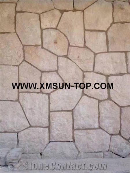Beige Limestone Flagstone Walkway Pavers