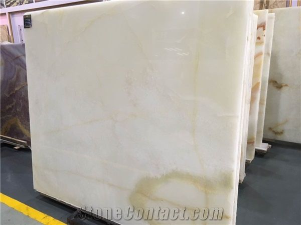 Honey Onyx Solid Surface Stone Table Tops, White Onyx Reception ...