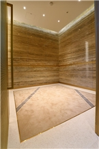 Yellow Travertine/Golden Emperador Travertine