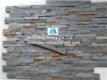 Iron Rusty Split Face Slate Stone Wall Panels,Iron Grey Slate Culture Stone,Iron Slate Stacked Stone,Natural Split Face Stone Cladding,Slate Thin Stone Veneer,Iron Slate Ledgestone,Outdoor/Indoor Wall