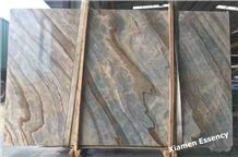 Polished Roman Impression Marble, China Wooden Marble Slabs