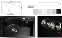 White/Black/Beige Quartz Bathroom Round and Square Vanity Basin and Sink with Single and Double Wash