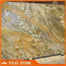Olympic River Slab Quartzite Slab, Yellow Gold Stone Slab
