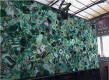 Green Semi Precious Stone Panels/Slabs/Tiles,Wall /Floor Tiles,Bar Tops,Table Tops,Vanity Tops,Gemstone Tiles