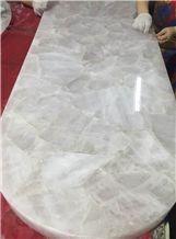White Crystal Quartz Panels/Tops,Semi-Precious Quartz Tile, Slabs and Decor,Gemstone