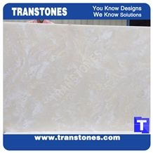 Artificial Marble Silver White Faux Slabs for Wall Panel Celing Floor Covering,Solid Surface Engineered Stone Glass Resin Stone for Conference Table Desk Tops