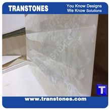 Artificial Marble Spray Silver White Faux Slabs for Wall Panel Celing Floor Covering,Solid Surface Engineered Stone Glass Resin Stone for Reception Countertops,Office Table Top,Interior Furniture