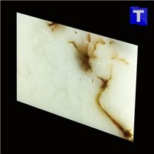 Artificial Seben White Onyx Jade Tiles Wall Cladding Panel Floor Tiles,Alabaster Slabs Translucent Backlit Glass Stone for Kitchen Bar Tops,Bath Tops Customzied Design, Solid Surface
