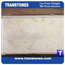Beige Delicate Cream Artificial Marble Stones Wall Panel,Flooring Covering Pattern Patio