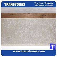 Solid Surface Delicate Cream Faux Marble Slabs Tile Walling,Ceiling Panel,Floor Covering Artifcial Stones Resin Glass Stone for Interior Furniture Material