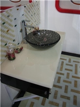 Solid Surface White Artificial Onyx Bath Top,Vanity Top,Countertops for Bathroom