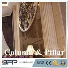 Beige Color Interior Decorative Marble Column