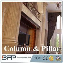 Luxurious Beige Marble Corinthian Column