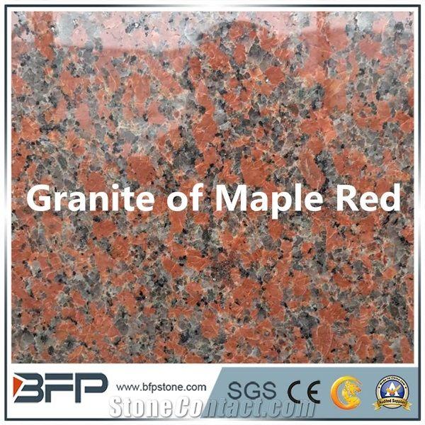 Maple Red Dark Granite Maple Leave Red Popular Chinese Granite Color