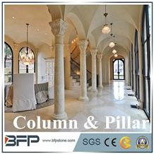 Moden Round Marble Columns for Decoration