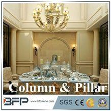 Natural Marble Onyx Pedestal Column Design
