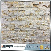 Sunny Gold Marble Ledgestone Wall Panels,Golden Fireplace Ledgestone,Gold Beige Ledger Stone Backsplash
