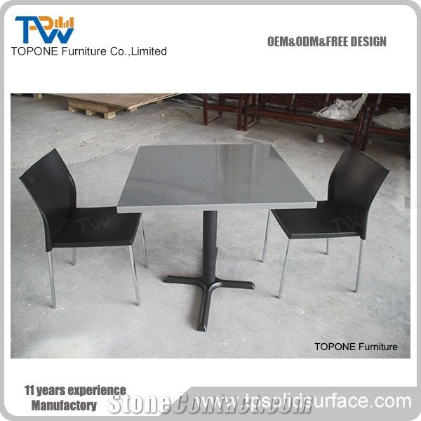 Artificial Marble Stone Restaurant Dining Table Tops Interior Stone - Corian restaurant table tops