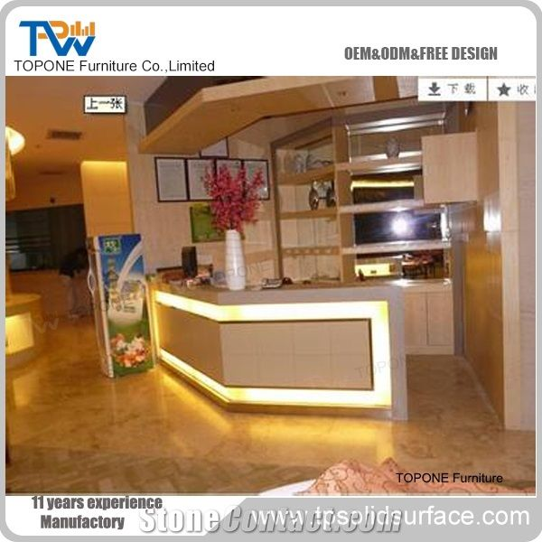 Factory Price Modern Design Artificial Marble Stone Led Lighted