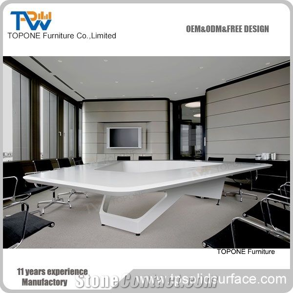 Triangle Shape Artificial Marble Stone Conference Room